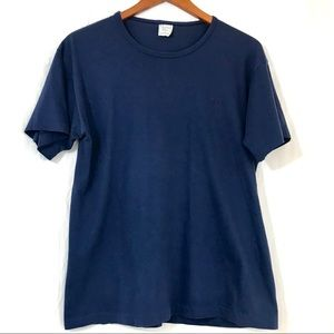 Christian Dior Navy Blue Logo Embroidered T-Shirt